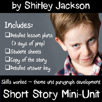Charles by Shirley Jackson  Short Story Mini-Unit
