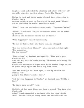 Charles by Shirley Jackson Story Comparison:  Preparing for ELA TAKS