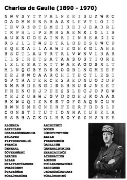 Charles de Gaulle Word Search