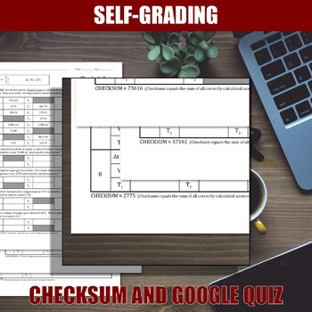 Charles's Law Worksheets   Print   Digital   Self-Grading   Distance Learning