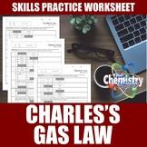 Charles's Law Worksheets | Print | Digital | Self-Grading