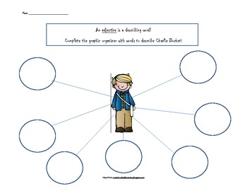 Charlie And The Chocolate Factory Adjective/Character Webs