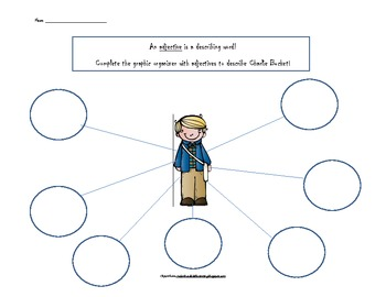 Charlie And The Chocolate Factory Adjective/Character Webs for 6 characters