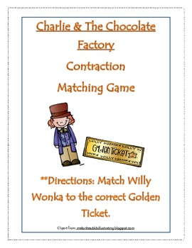 Charlie And The Chocolate Factory Contraction Matching Game