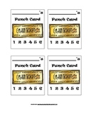 Charlie And The Chocolate Factory Golden Ticket Behavior Punch Cards