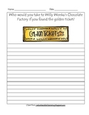 Charlie And The Chocolate Factory Golden Ticket Writing Prompt