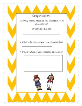 Charlie And The Chocolate Factory Writing Activity