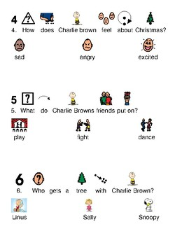 Charlie Brown Christmas Picture supported text lesson article questions visuals