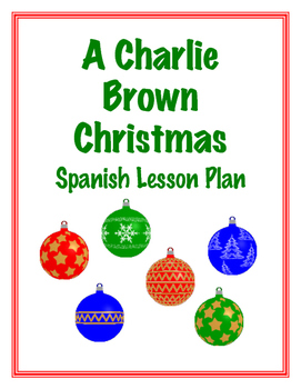 Charlie Brown Christmas Spanish Vocabulary Building Lesson