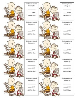 Charlie Brown Dictionary Journal
