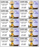 Charlie Brown Teacher business cards Editable