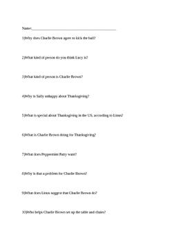 Charlie Brown Thaksgiving Questions
