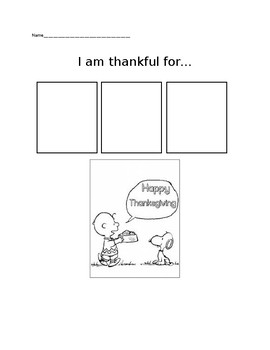 Charlie Brown Thanksgiving... I am thankful for...
