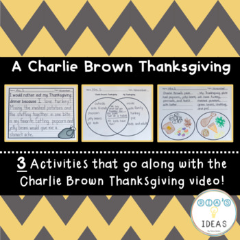 Charlie Brown Thanksgiving Movie Activities