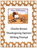 Charlie Brown Thanksgiving Opinion Paragraph