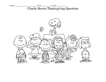Charlie Brown Thanksgiving STATIONS