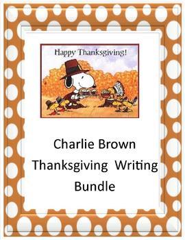Charlie Brown Thanksgiving Writing Bundle