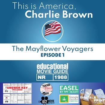 Charlie Brown - The Mayflower Voyagers Movie Guide   Worksheet (1988)