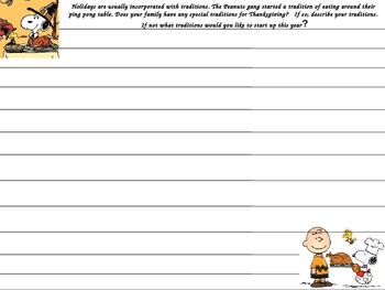 Charlie Brown Writing Prompt
