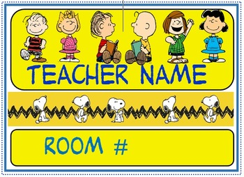 Charlie Brown classroom sign