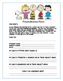 Pre conference form with the Peanuts theme