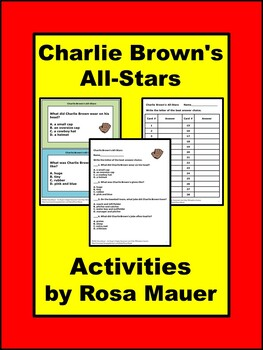 Charlie Brown's All-Stars Baseball Literacy Book Unit