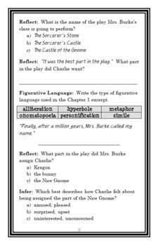 Charlie Bumpers vs. the Really Nice Gnome (Bill Harley) Novel Study