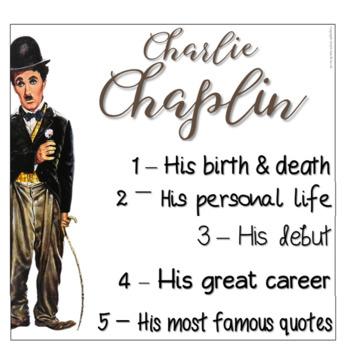 Charlie Chaplin Biography Informational Text Flapbook