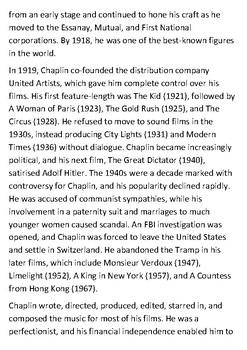 Charlie Chaplin Handout