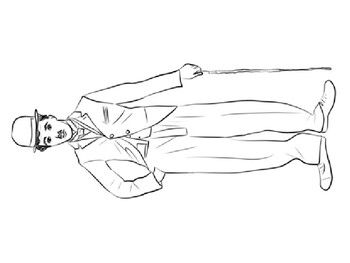 Charlie Chaplin coloring picture