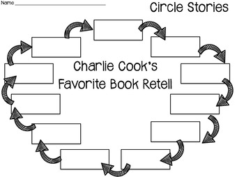 Charlie Cook's Favorite Book Circle Story Retell Activity