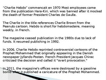 Charlie Hebdo Presentation
