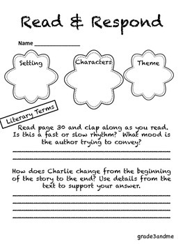 Charlie McButton Literacy Packet