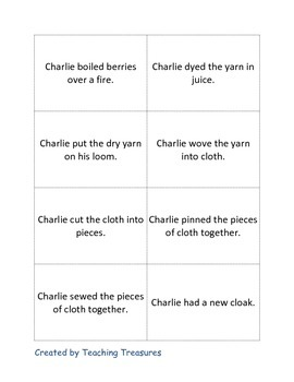 "Tomie DePaola's ""Charlie Needs a Cloak"" Book Activities"