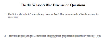 Charlie Wilson's War Discussion Questions