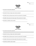 Charlie and The Chocolate Factory Chapter 10 Questions