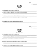 Charlie and The Chocolate Factory Chapter 17 Questions