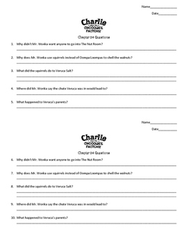 Charlie and The Chocolate Factory Chapter 24 Questions