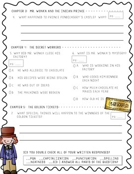 Charlie and the Chocolate Factory - Activity & Assessment Pack!