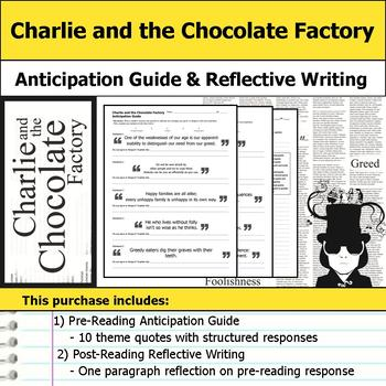 Charlie and the Chocolate Factory - Anticipation Guide & Reflection