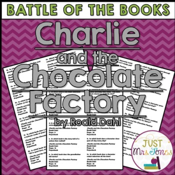 Charlie and the Chocolate Factory Battle of the Books Trivia Questions