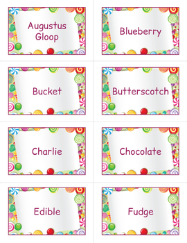 Charlie and the Chocolate Factory Bingo Game