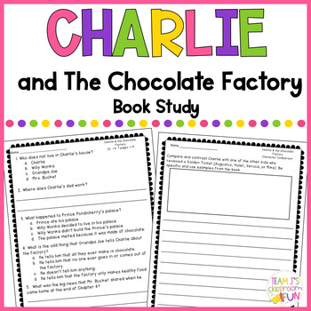Charlie and the Chocolate Factory - Book Study