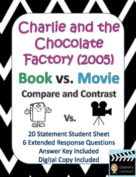 Charlie and the Chocolate Factory Book vs. Movie (2005) Compare and Contrast