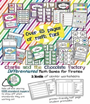 Charlie and the Chocolate Factory CCSS Math Games & Printables {Differentiated}