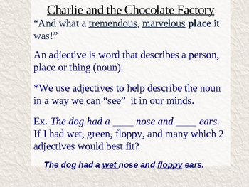 Charlie and the Chocolate Factory Chapter 1 Vocabulary
