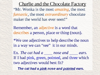 Charlie and the Chocolate Factory Chapter 2 Vocabulary