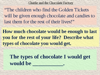Charlie and the Chocolate Factory Chapter 5 Vocabulary