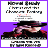 Charlie and the Chocolate Factory Novel Study & Project Menu; Digital Option