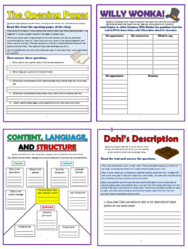 Charlie and the Chocolate Factory Comprehension Activities Booklet!